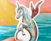 Magic is Real MerUnicorn - vinyl sticker by Marybel Martin