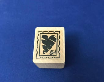 Heart Postage Stamp, Five Cent Fun