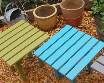 Pine Wood Side Table / End Table - Available in 12 Colors - Outdoor Patio Furniture for Home & Garden by Laughing Creek