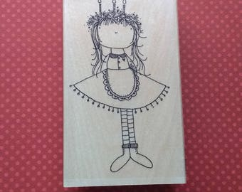 Candle Girl Stamp