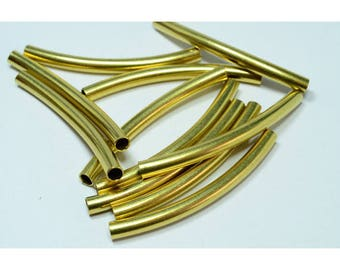 Set of 25 curved brass tubes 3 x 42mm