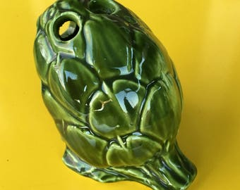 Vintage Green Ceramic Flower Frog made in Italy