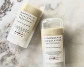 LEMONGRASS + EUCALYPTUS Natural Deodorant