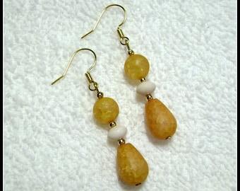 Yellow Earrings - Yellow Drop Earrings - Jewelry - E-222