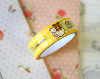 04 Rilakkuma Bear Cartoon Washi Masking Tape