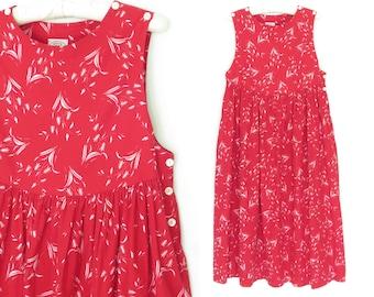 Vintage Sun Dress * Floral 80s Sundress * 1980s Laura Ashley Dress * Small / Medium