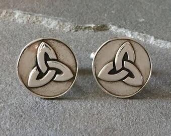 Celtic Knot Cufflinks Celtic Inspired Cufflinks Celtic Gifts For Men Irish Gift For