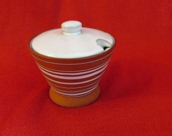 "Vintage ""Holt-Howard"" Ceramic  Condiment or Mustard Pot with Lid"