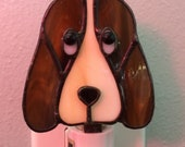 Stained Glass Hound Dog Night Light
