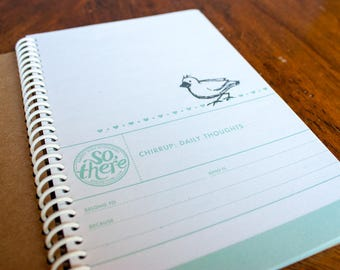 Chirrup: Daily Thoughts - Spiral Journal