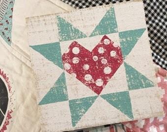 polka dot heart barn quilt