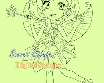 Cute Fairy Digital Stamp