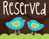 Reserved listing for J.