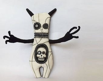 Voodoo Doll Gothic Monster Creepy Horror Art Doll