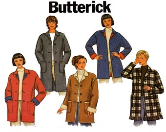 Butterick 3306 Womens Jacket or Coat OOP Sewing Pattern Size 14 16 18 UNCUT Factory Folds Bust 36 38 40 inches