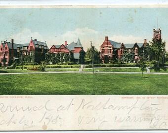 Smith College Northampton Massachusetts 1905 postcard