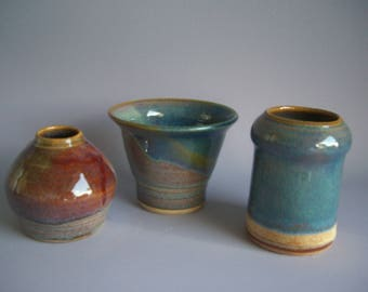 Hand thrown stoneware pottery jar suite  (JS-4)