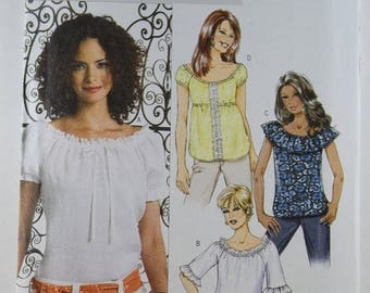 ON SALE Butterick 4685, Misses' Top Sewing Pattern, Sewing Pattern, Misses' Tops Patterns, Easy Sewing Pattern, Misses' Sizes 16 - 22, New a