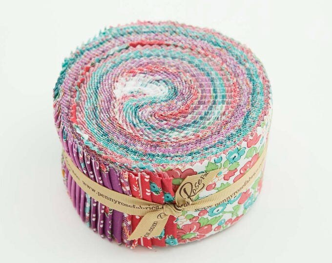 "Rolie Polie Jelly Roll 2.5"" Strips - Prim and Proper Fabric by Lindsay Wilkes for Riley Blake Designs and Penny Rose Fabrics"