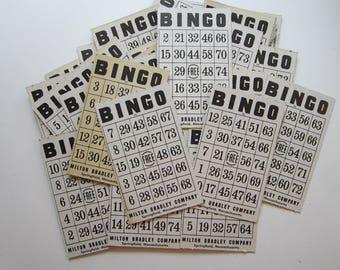 10 vintage BINGO cards