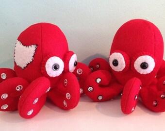 ON SALE Ohio Scarlet and Grey Octopus Stuffed Animal Plush