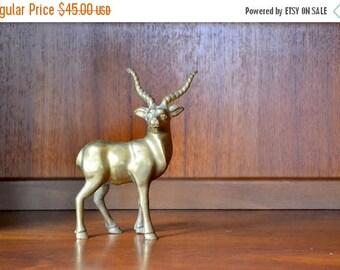 SALE 25% OFF vintage brass antelope figurine