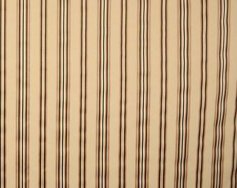 Black Gold Striped fabric