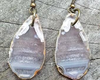 Teardrop Agate Earrings