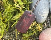 """HAGALAZ Rune Necklace in Copper with 20"""" chain"""