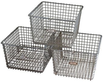 Storage Baskets Three from Midcentury Swim Basket Unit in Pool Locker Room