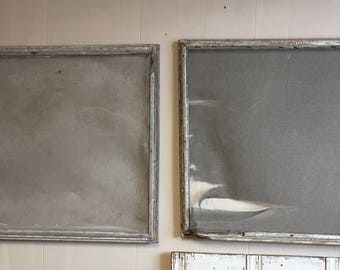 Two Antique Vintage Window Screens