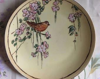Thomas Bavaria Weeping Cherry Porcelain  Bird Plate