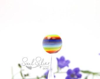Rainbow Round - Focal Bead