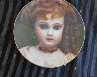 Plate. The Emile Juneau E.J. -  Old French Doll plate from The Doll Collection  1979 Number 1167 and signed