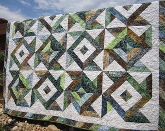 Batik Quilt, Homemade Quilt, Patchwork Quilt, Lap Quilts, Quilted Throw, Handmade Quilt, Sofa Quilt, Home Decor, Earth Tone Colors