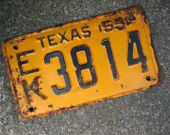 1955 Texas License Plate