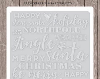 Carta Bella HOLIDAY PHRASES Embossing Folder A2 Happy Holidays Merry Christmas Family CD58031 Echo Park
