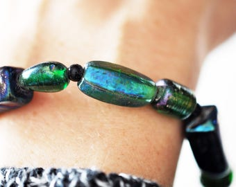 Multi Colored Glass Bracelet