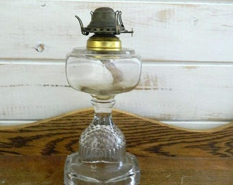 Queen Anne Oil Burning Lamp - Rustic Farmhouse Decor