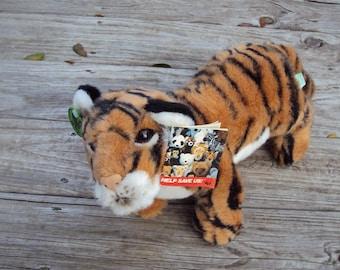 1988 Bengal Tiger Plush Stuffed Animal, WWF World WildLife Fund, by Applause