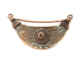 Antique Copper Pendant Antique Copper Plated Pendant (81x33mm) G8692