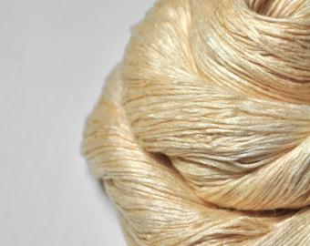 Rotten buttermilk with honey OOAK - Fleece Silk Lace Yarn - LIMITED EDITION