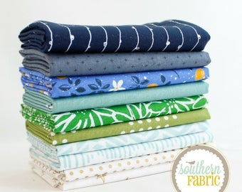 """Emily Dennis - Half Yard Bundle - 10 - 18""""x44"""" Cuts - by Mixed Designers for Southern Fabric"""
