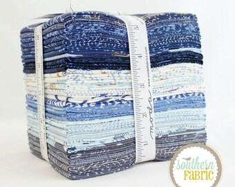 "True Blue - Fat Quarter Bundle - 25 - 18""x21"" Cuts - by Zen Chic for Moda Quilt Fabric"