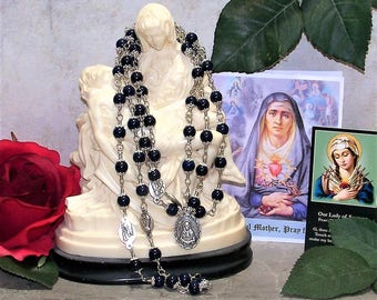 Our Lady of Seven Sorrows Unbreakable Catholic Chaplet - The Seven Sorrows of the Virgin Mary Unbreakable  Rosary