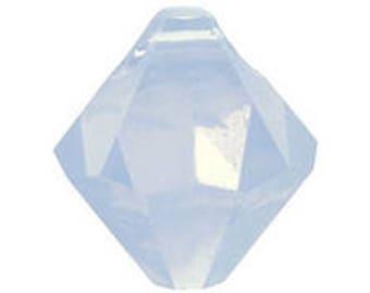 Swarovski bicone drop, Air Blue Opal, 8mm -  #2410