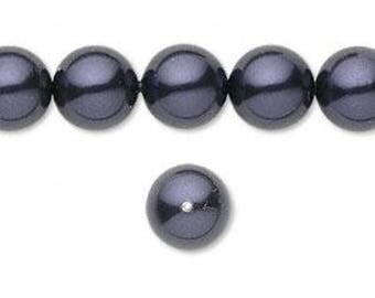 Swarovski pearl, Dark Purple, 5mm, #2378