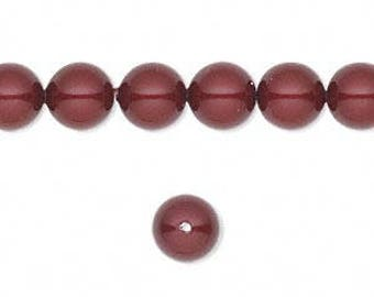 Swarovski pearl, Bordeaux, 3mm and 4mm #2381/2382