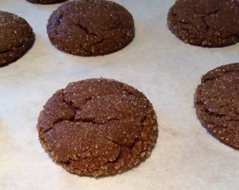 Very Ginger Molasses Cookies, Bite Size Cookies, Spice Cookie, Homemade Baked Goods, Edible Food Gift, Made in Michigan