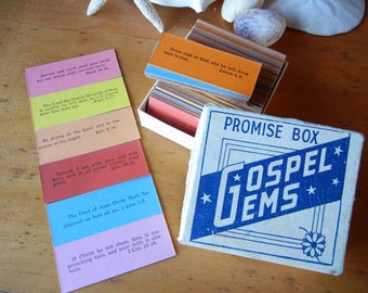 Promise Box Gospel Gems Bible verses double sided 100 cards Multi-color Craft Supplies Daily Devotional Faithful words